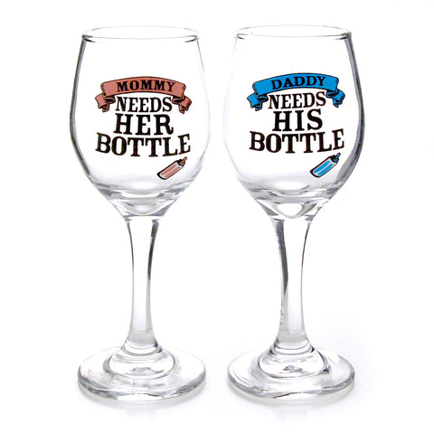 New Parent Bottle Glassware Set