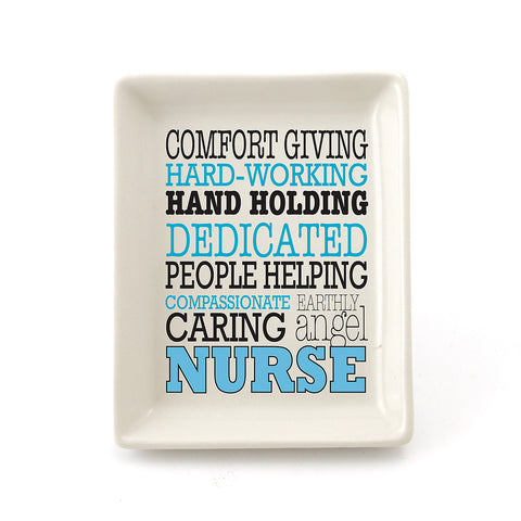 Nurse Typography Dish