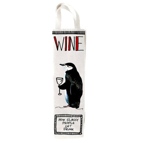 Penguin Wine Bag- Hoots N' Howlers