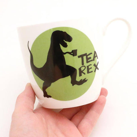 Porcelain Tea Rex Mug with Green Circle