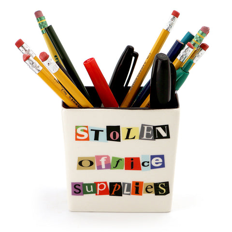 Funny Ransom Note Pencil Holder