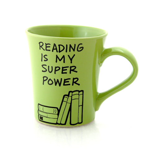 Reading Is My Super Power Mug - Made in the USA