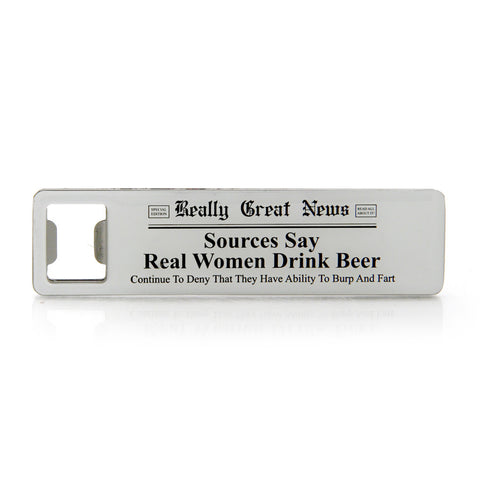 Real Women Bottle Opener Magnet