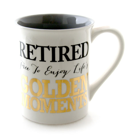 Retired Enjoy The Golden Moments Mug
