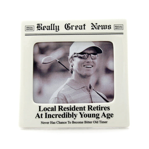 Retires Photo Frame- Really Great News