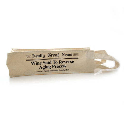 Reversing Age Canvas Wine Bag