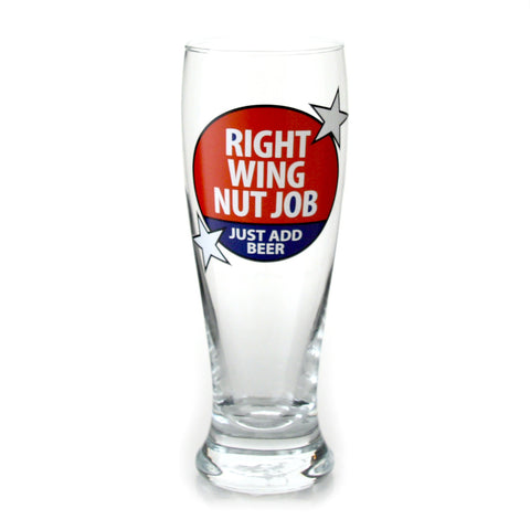 Right Wing  Nut Job Glass Pilsner