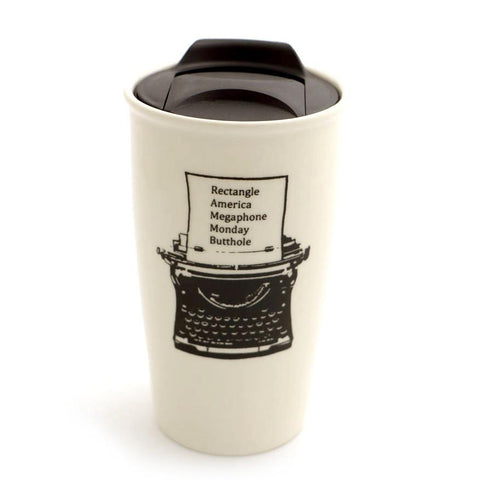 Ron Swanson Typewriter Parody Eco Travel Mug