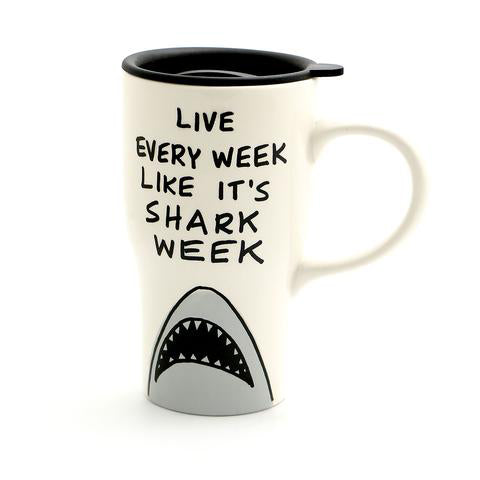Shark Week Travel Mug with Handle