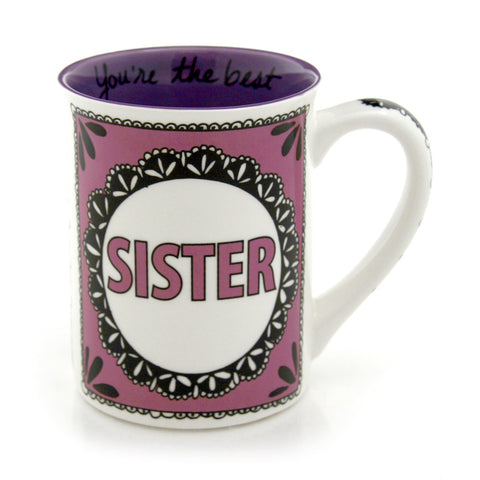 Sister - Family Friends Lace Mug