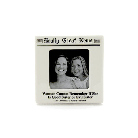 Sister Small Photo Frame- Really Great News