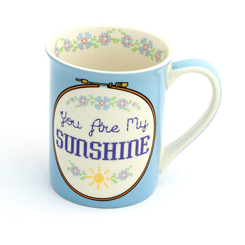 You Are My Sunshine Cross Stitch Mug