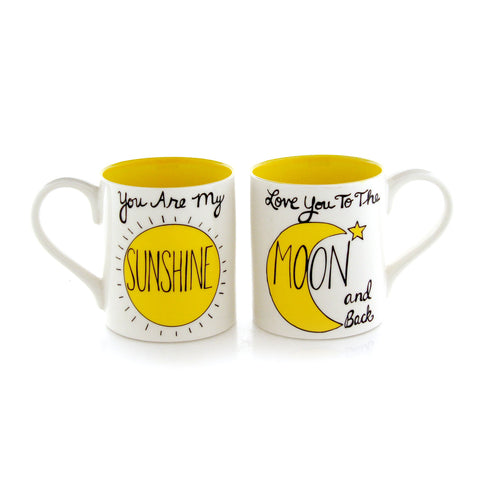 Sunshine Moon Mugset