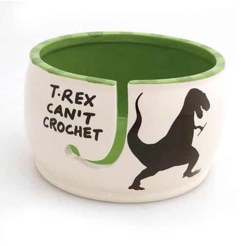 T Rex Can't Crochet - Crochet Bowl