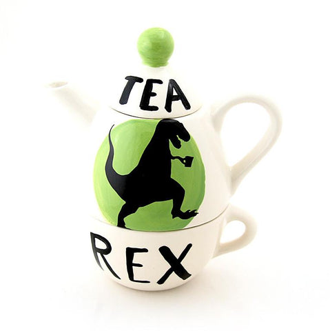 Tea-Rex Dinosaur Tea For One Set - Handmade in the USA