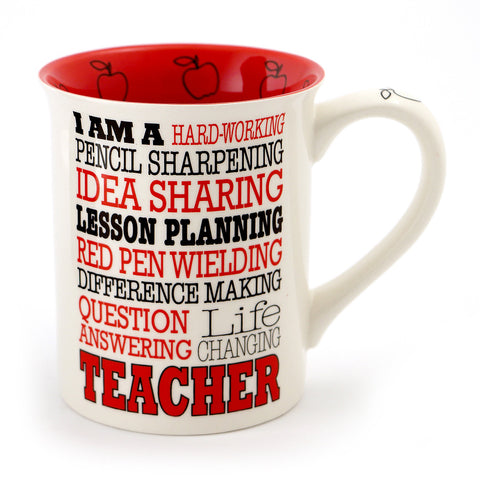 Teacher Typography Mug