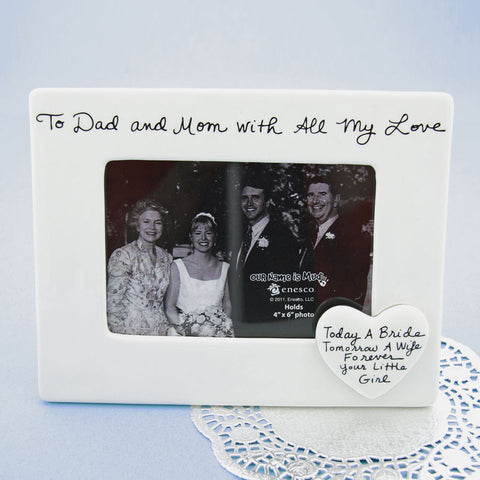 To Dad And Mom Photo Frame