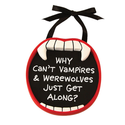 Vampire and Werewolves Mini Plaque