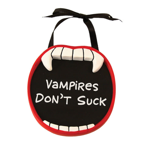 Vampires Don't Suck Mini Plaque