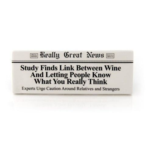 Wine And Truth Plaque RGN