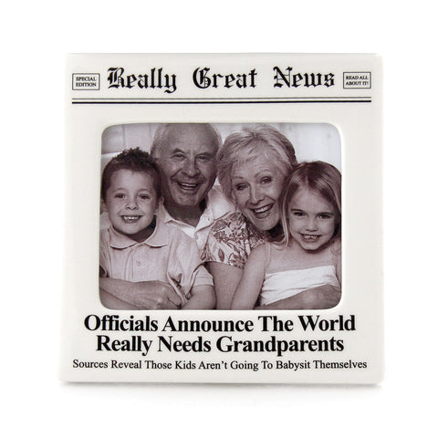 World Grandparents Photo Frame- Really Great News