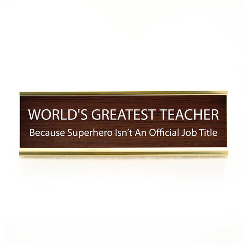 World's Greatest Teacher Plaque