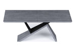 Artiste Extension Dining Table - Grey Oak/Black