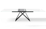 Maestro Extension Dining Table - White/Black