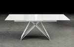 Maestro Extension Dining Table - All White