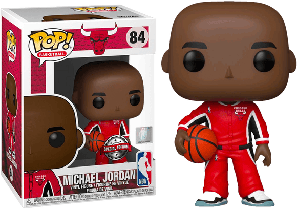 NBA: Bulls - Michael Jordan Red Warm-Ups  Pop! Vinyl