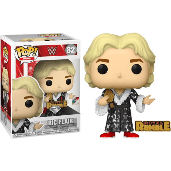 WWE - Ric Flair Royal Rumble '92 Diamond Glitter  Pop! Vinyl with Enamel Pin