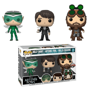 Artemis Fowl - Artemis Fowl, Mulch Diggems & Holly Short  Pop! Vinyl 3-pack