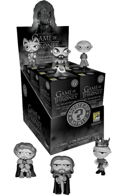 Game of Thrones - Mystery Minis In Memoriam SDCC 2014  Case of 12