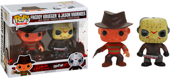Prolectables - Freddy vs Jason - Freddy Krueger & Jason Voorhees Bloody Pop! Vinyl 2-Pack