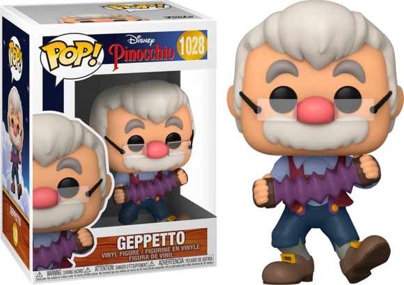 Prolectables - Pinocchio - Gepetto with Accordion 80th Anniversary Pop! Vinyl