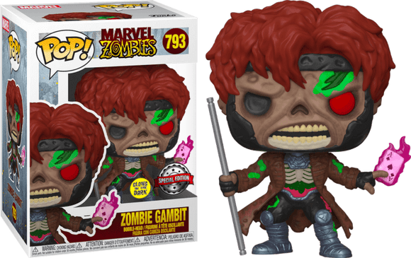 Prolectables - Marvel Zombies - Gambit Glow  Pop! Vinyl