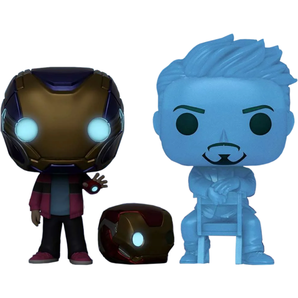 Prolectables - Avengers 4: Endgame - Morgan & Hologram Tony Glow with Helmet Pop! Vinyl 2-Pack