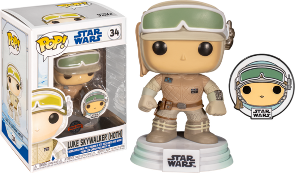 Prolectables - Star Wars: Across the Galaxy - Luke Skywalker Hoth Pop! Vinyl with Pin