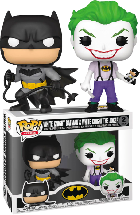 Prolectables - Batman - Batman & Joker (White Knight) Pop! Vinyl 2-Pack
