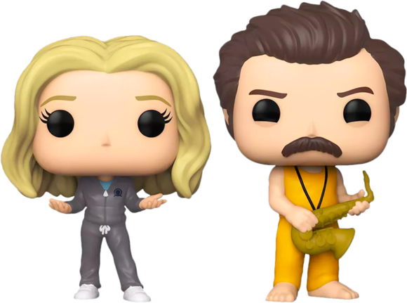 Prolectables - Parks and Recreation - Locked In Ron & Leslie Pop! Vinyl 2-Pack