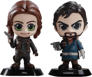 Prolectables - Star Wars: Rogue One - Jyn & Cassian Cosbaby Set