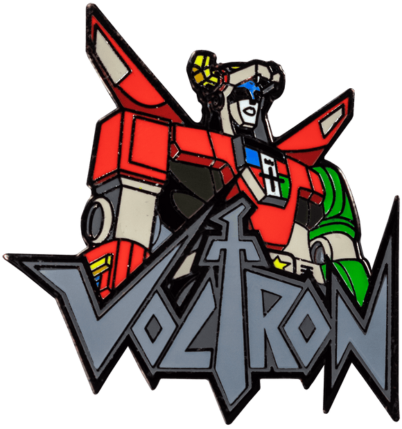 Prolectables - Voltron - Voltron Bust with Logo Enamel Pin