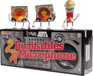 Prolectables - Kidrobot - 2 Turntables and a Microphone Mini 3 Pack