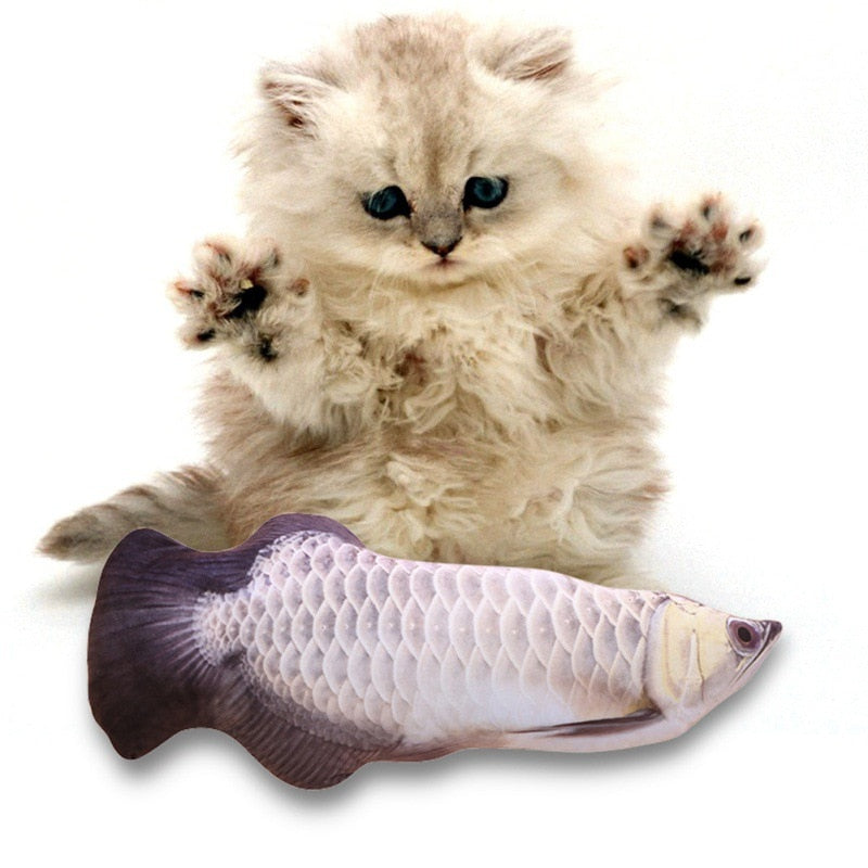 Fishy Friend Catnip Toy Plush Toy or USB Moving Toy option