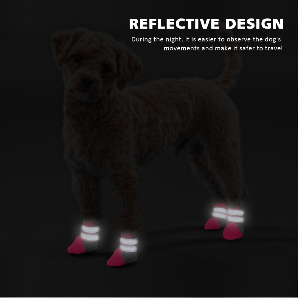 Reflective Anti-Slip Dog Boots