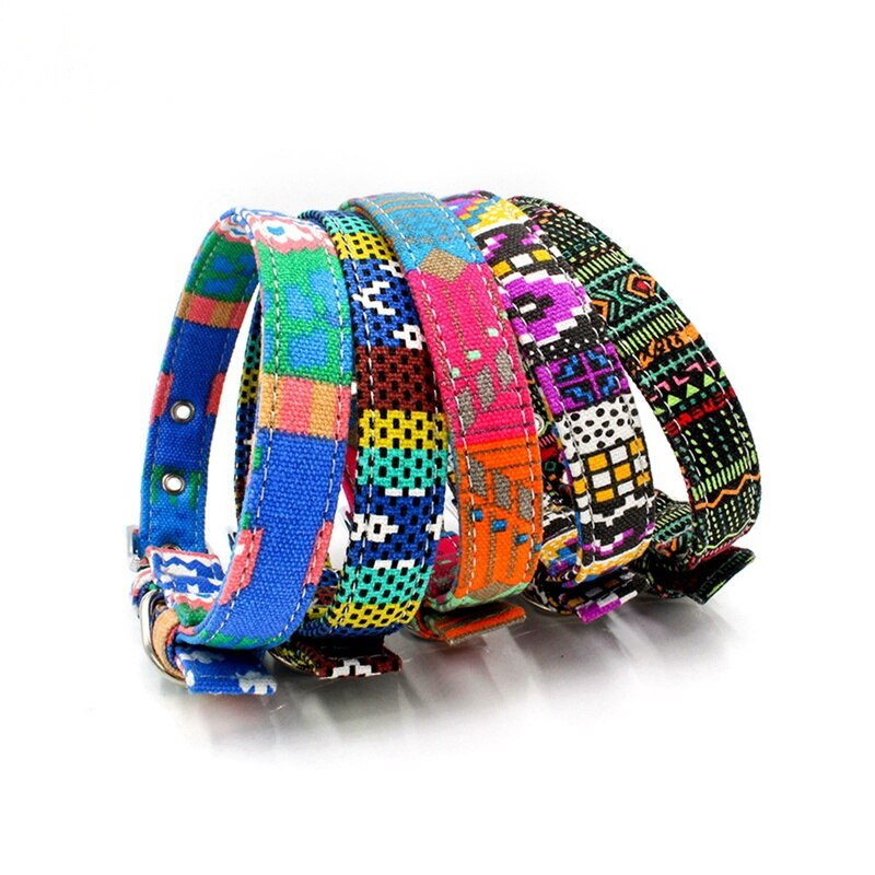 Adjustable Bohemian Dog Collar
