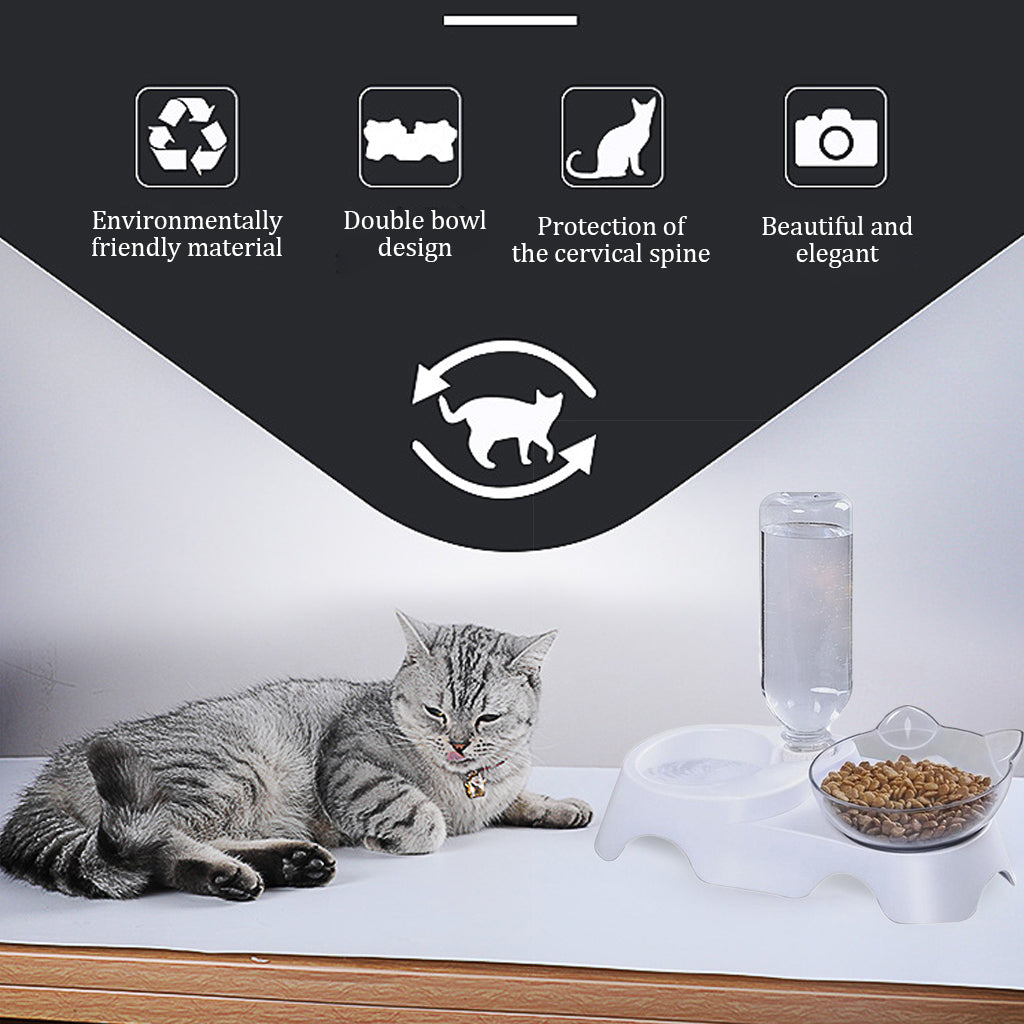 Anti Slip Cat Feeder Tray
