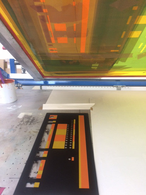 Screen Printing Acrylic Computer Panels - Restoration Silkscreen
