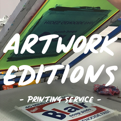 Screen print studio | Screen print artwork UK | Artwork editions printing service