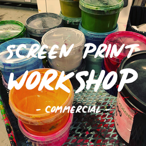 Commercial screen printing workshop | Commercial screen printing lessons | Screen printing lessons UK | Learn to screen print UK